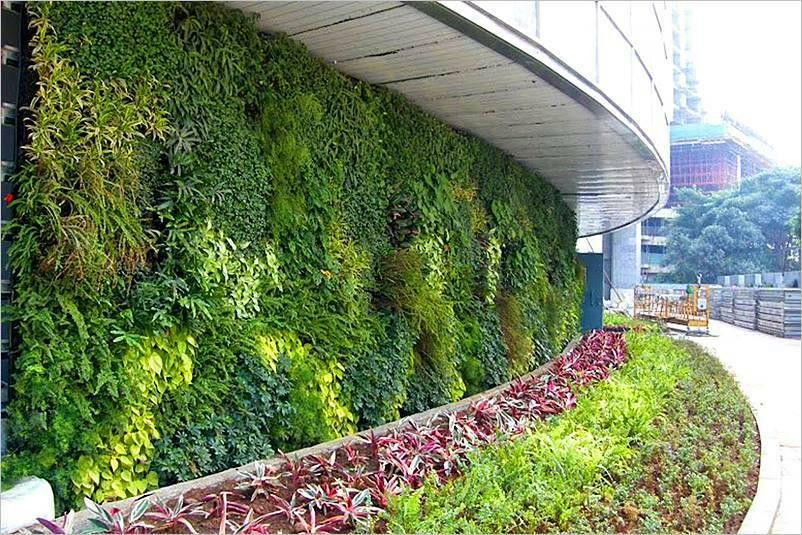 Jardines verticales en fachadas ornamentales