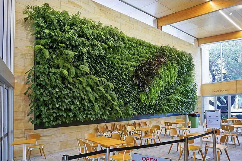 Jardines verticales o paredes verdes en comedores